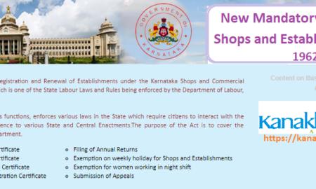 new mandatory karnataka shops and establishment act, 1962 Updates, Rules, Scope