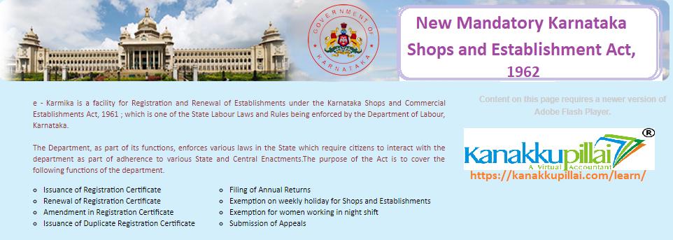 ekarmika: New Mandatory Karnataka Shops and Establishment Act, 1962 : Update 2019
