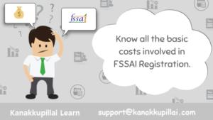 fssai license fee