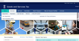 Visit www.gst.gov.in Under the 'Services' tab, click on 'Registration – Track Application Status'.