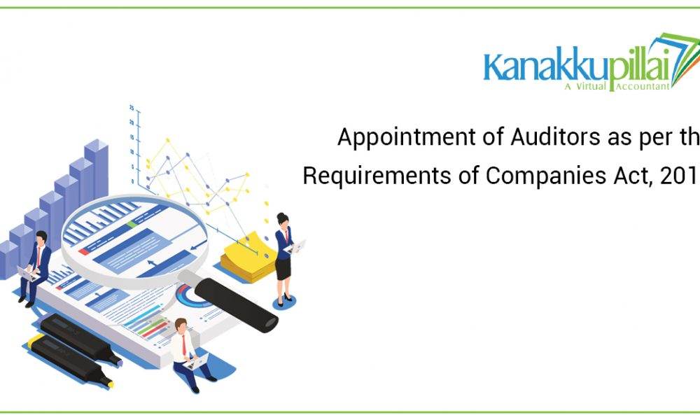 Appointment of Auditors as per the Requirements of Companies Act, 2013