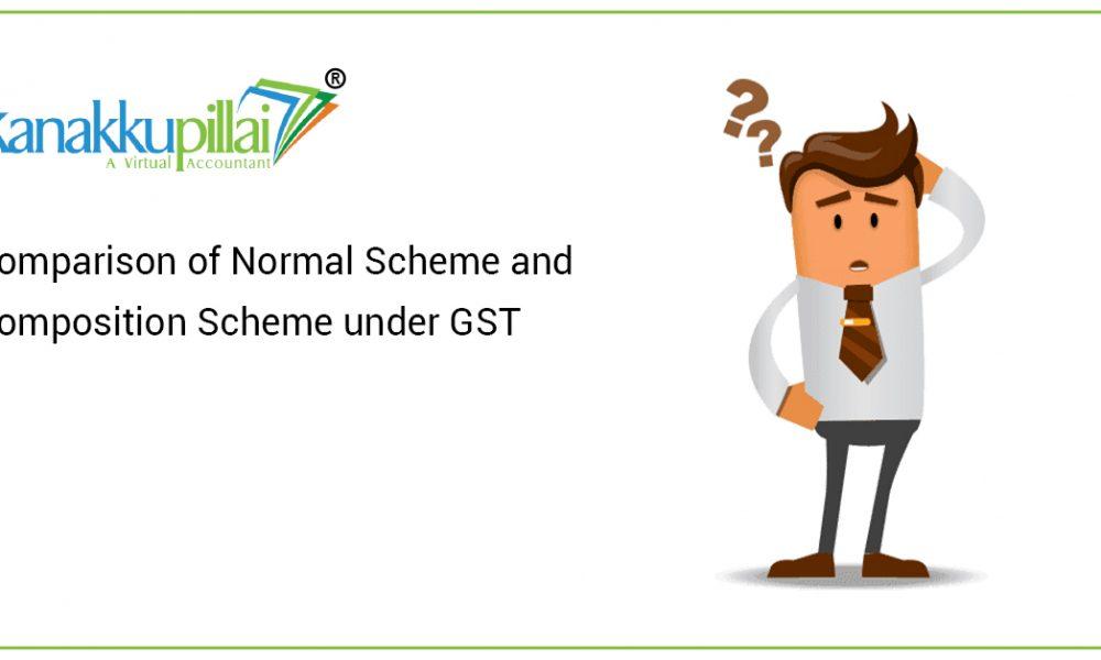 Comparison of Normal Scheme and Composition Scheme under GST